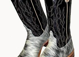 Anderson Bean Blue Roan Calf Top Boots