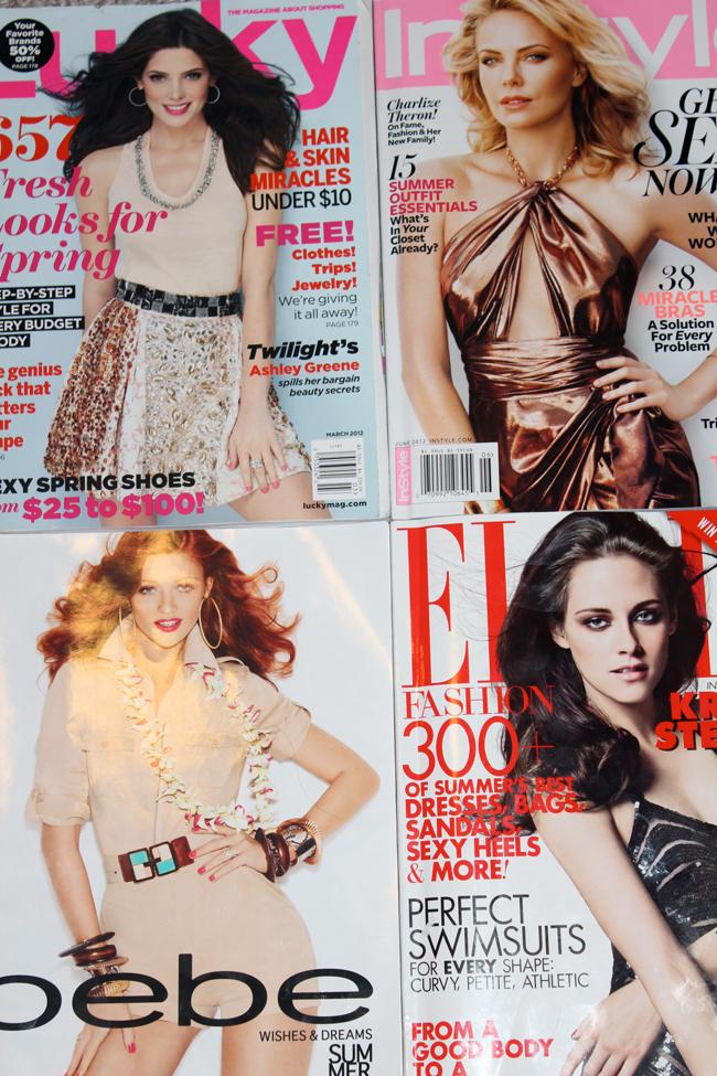girly magazines