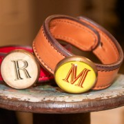 Leather Initial Bracelets by Rebecca Ray Designs