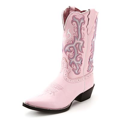 Justin Pink Kids Cowboy Boots