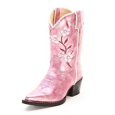 Pink Durango Kids Cowboy Boots