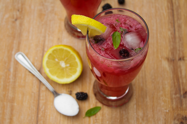 Blackberry Basil Lemonade