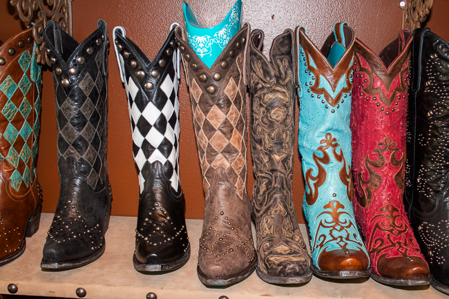Checkered and Studded Lane Boots