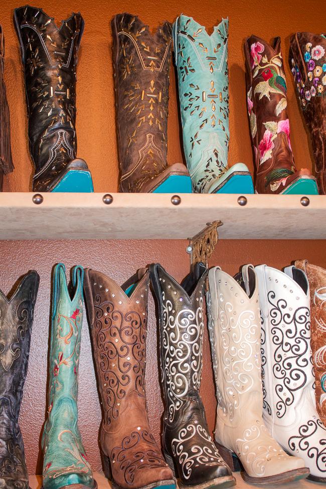 Shelves of Lane Boots