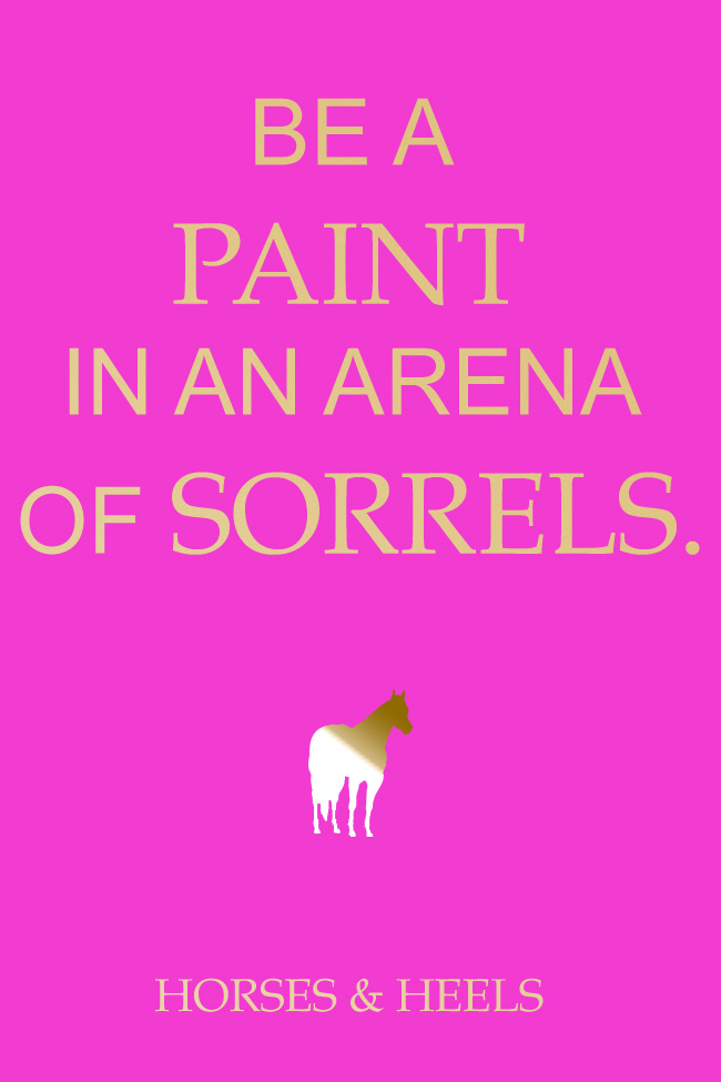 Be A Paint Horse in An Arena of Sorrels