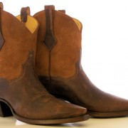 Distressed Brown Cowboy Boots
