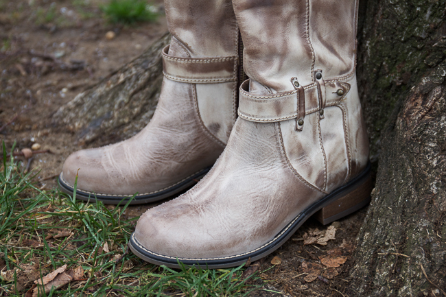 Corral Tall Top Boots with a distressed finish