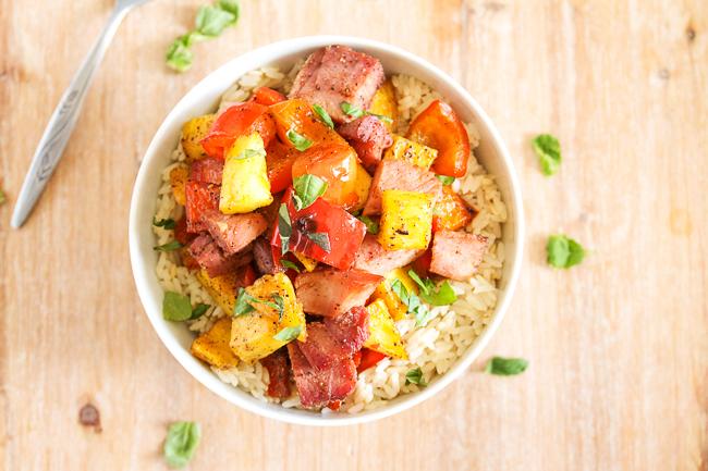 Hawaiian Ham & Pineapple Bowls