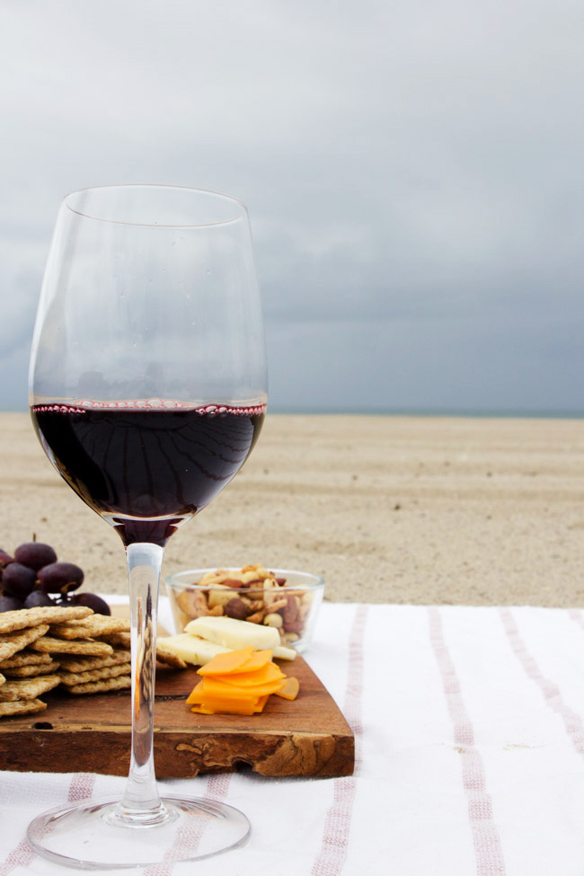 Wine and Cheese at the Beach | Horses & Heels