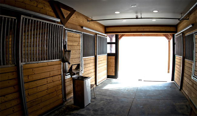 Barn stalls, this is actually part of a gorgeous apartment barn