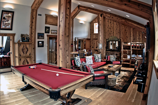 Living space above an apartment barn