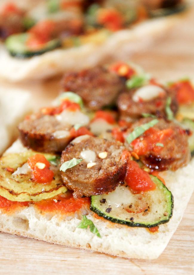 Spicy Sausage and Squash Flatbread