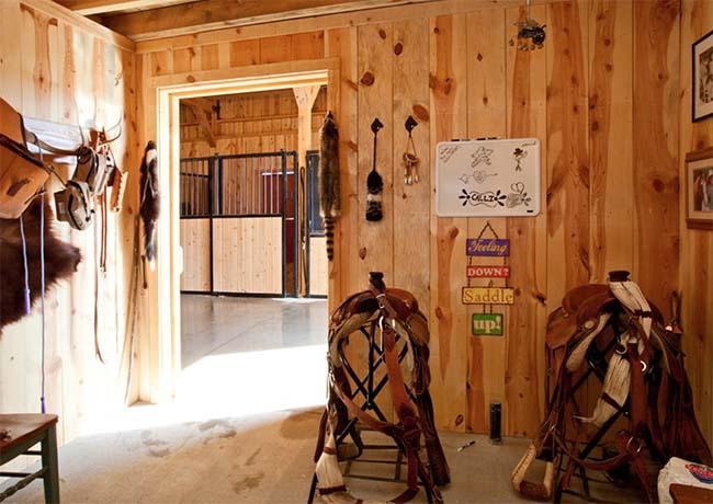 Western tack room