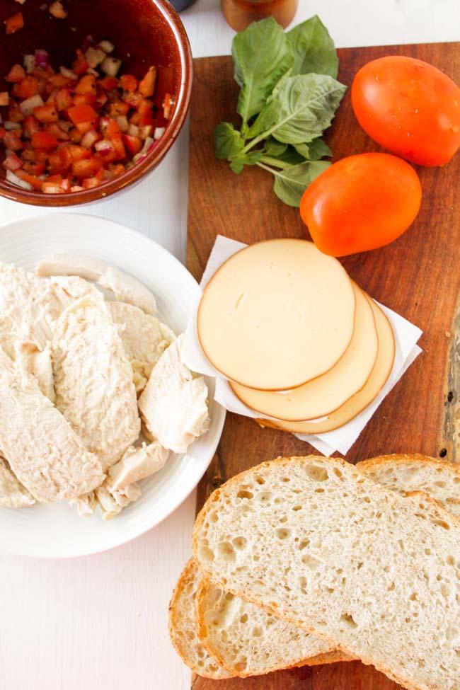 Grilled Bruschetta Chicken Sandwiches Ingredients