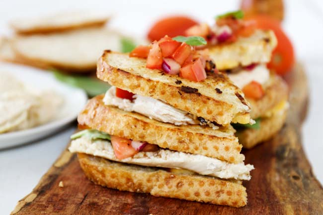 Grilled Bruschetta Chicken Sandwiches| Horses & Heels