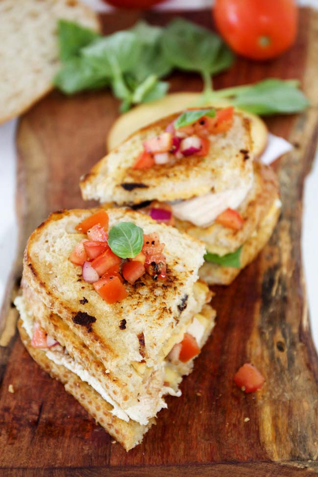Grilled Bruschetta Chicken Sandwiches