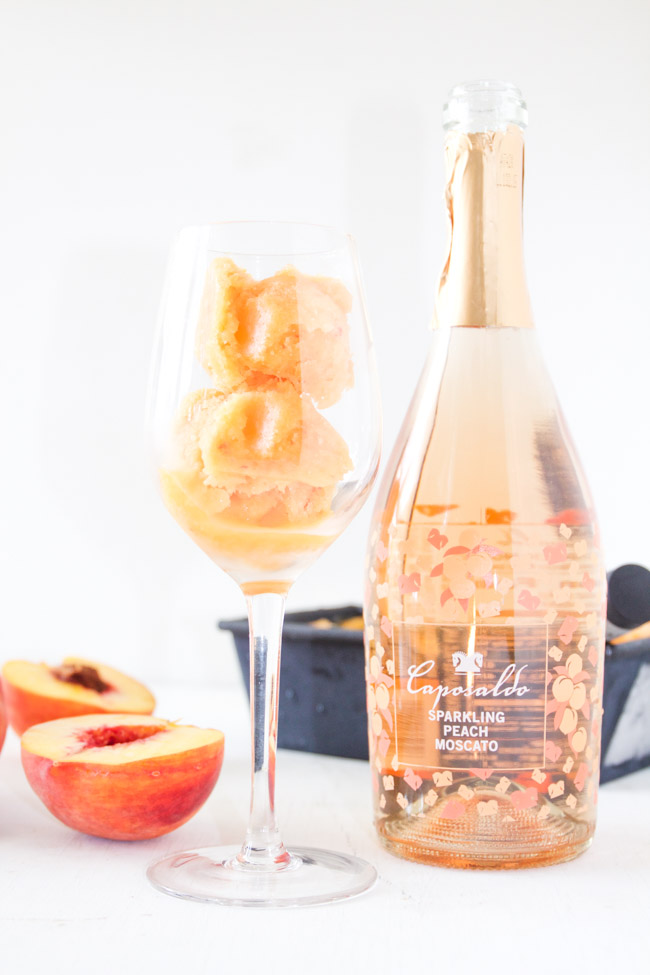 Peach Sorbet and Sweet Peach Moscato
