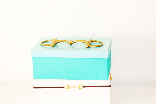 Snaffle bit decorative storage boxes, an easy DIY