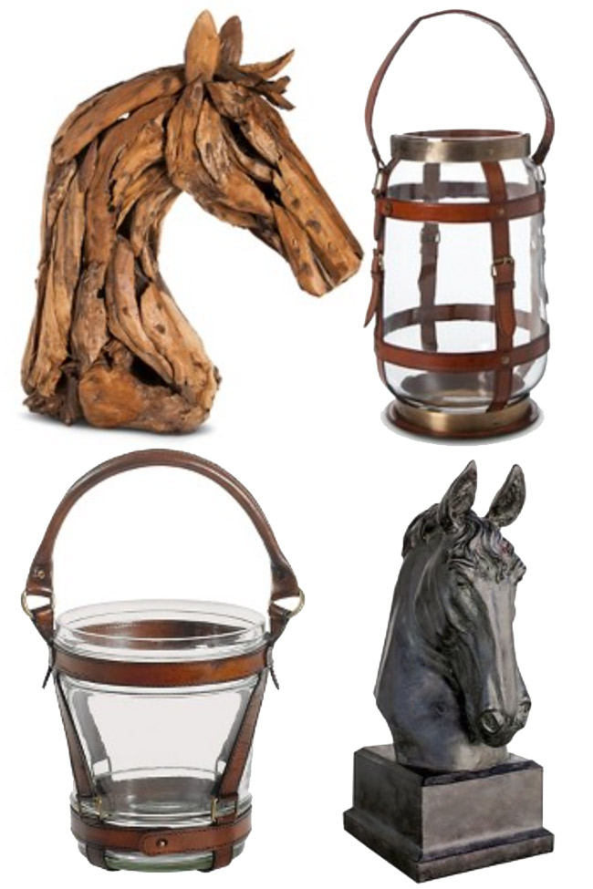 Horse head statues and equestrian accents from Target