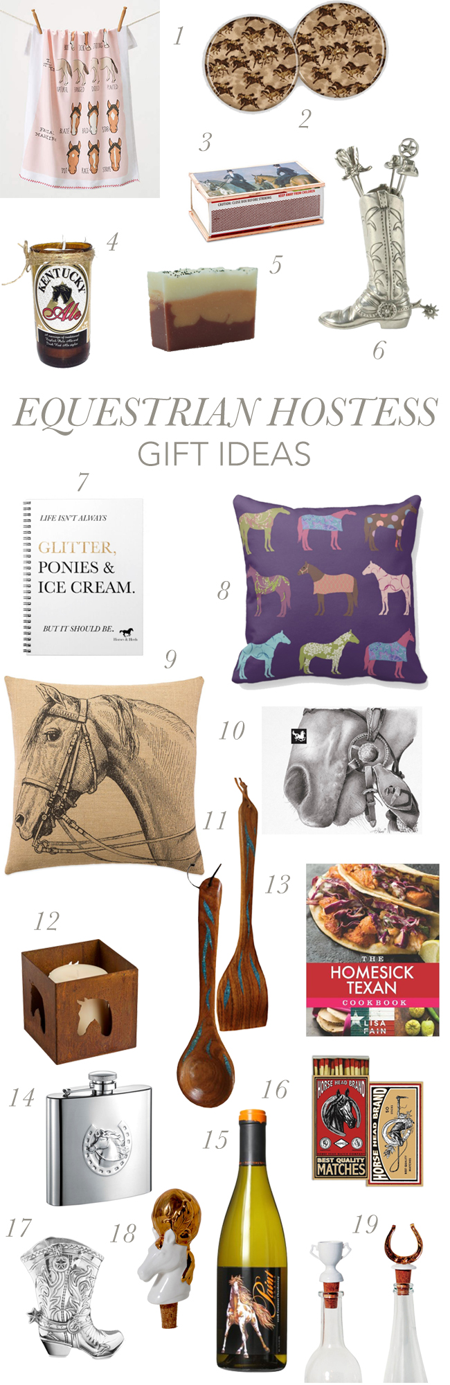 Equestrian Hostess Gifts
