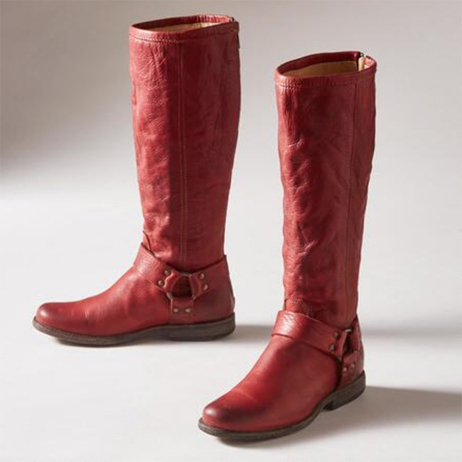 Frye Phillip Harness Boots - Red