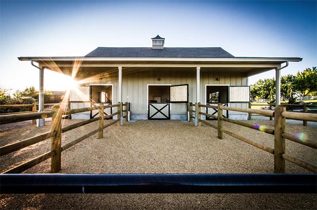 Stable style impressive 3 stall barn horses heels for Horse stable design plans