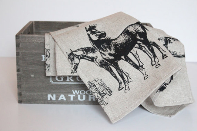Equestrian Tea Towels for the Home