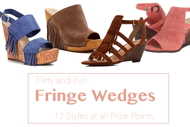 12 Pairs of Fringe Wedges for Spring & Summer