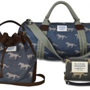 Blue and grey horse print bags from Sloane Ranger