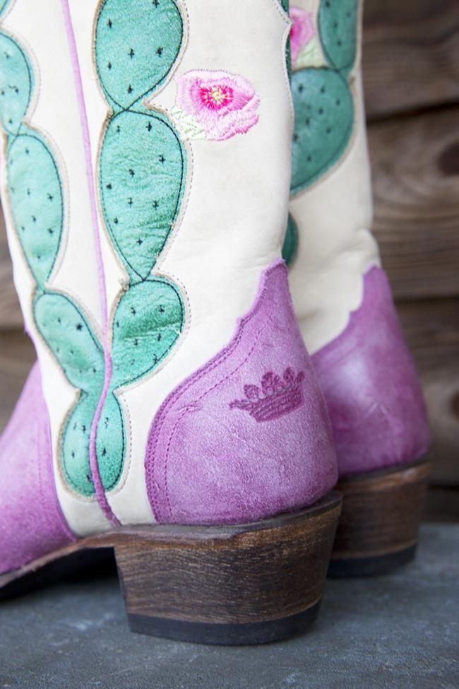 Junk Gypsy retro pink cactus boot
