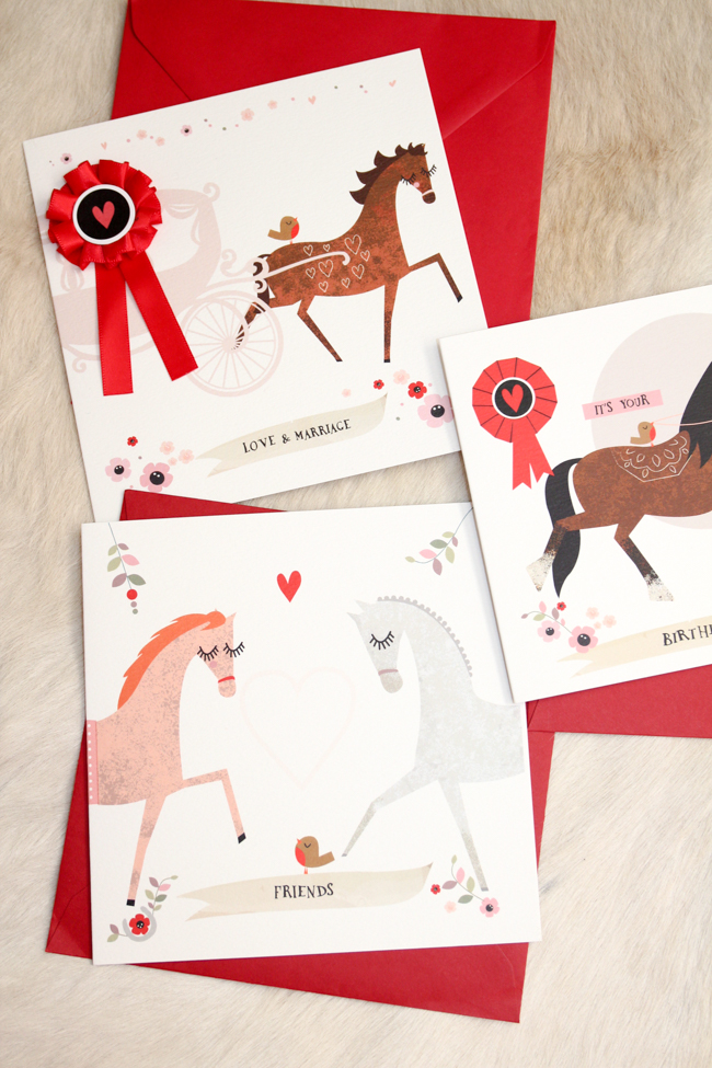 Sweet equestrian cards from Wo Ma Like