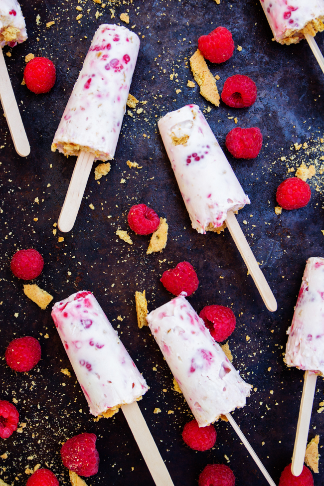 Raspberry Cheesecake Popsicles are amazing