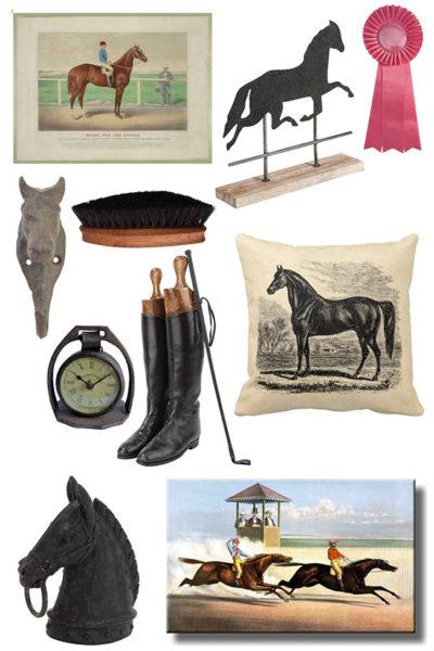 vintage inspired equestrian decor