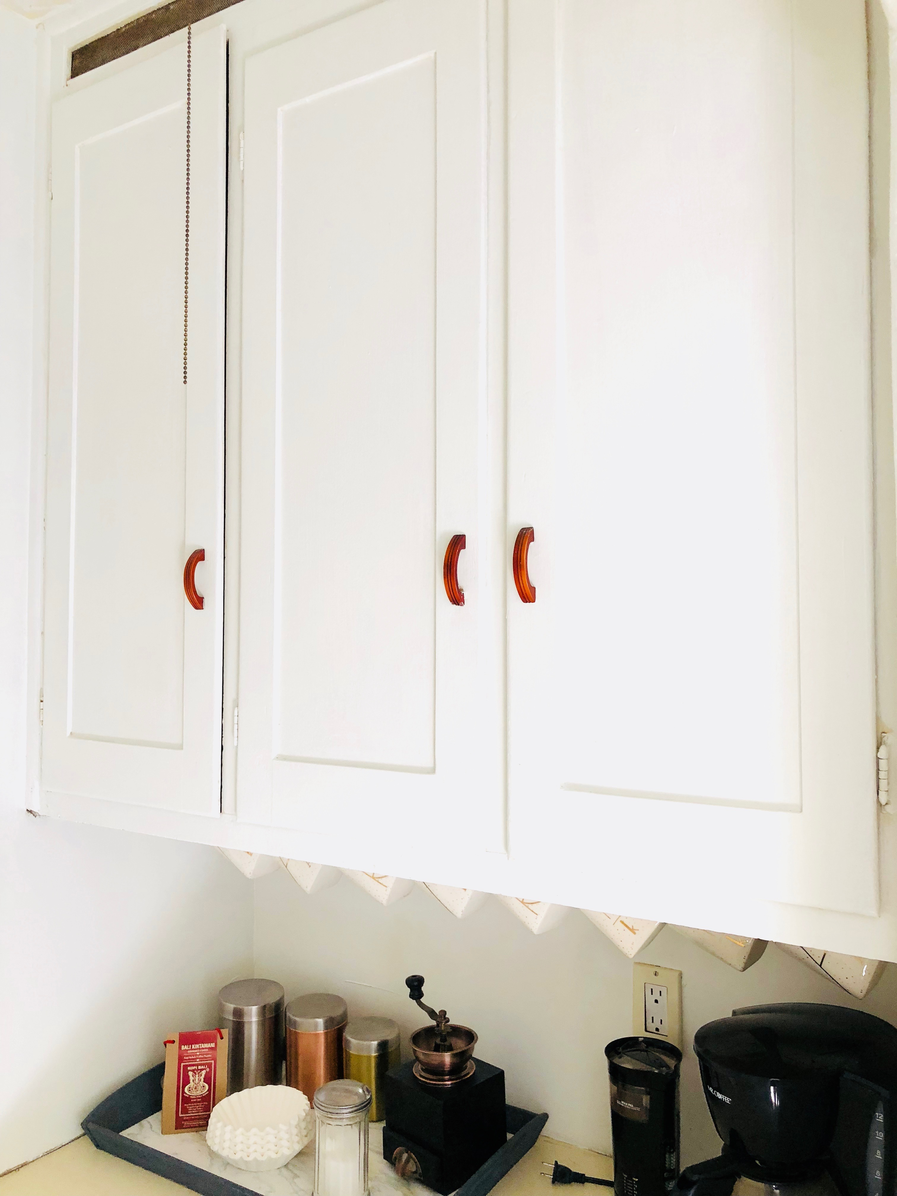 kitchen cabinets with a fresh coat of paint